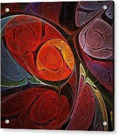Hypnotic Flower Acrylic Print by Anastasiya Malakhova