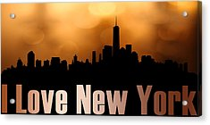 I Love New York Acrylic Print by Tommytechno Sweden