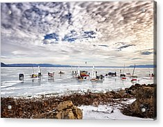 Ice Boats On Lake Pepin Acrylic Print