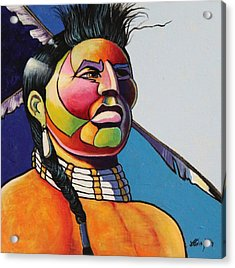 Indian Portrait Acrylic Print by Joe  Triano