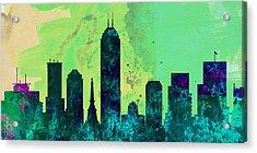 Indianapolis City Skyline Acrylic Print by Naxart Studio