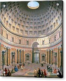 Interior Of The Pantheon Acrylic Print by Panini