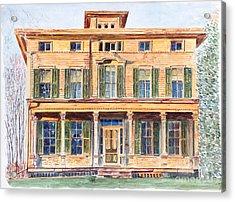 Italianate House Ny Acrylic Print by Anthony Butera