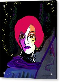 Jeanne - 924 Acrylic Print by Irmgard Schoendorf Welch