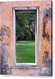 Jeckyll Island Window Acrylic Print by Tom Romeo