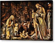 Jesus Had A Labrador Acrylic Print by Lee Dos Santos