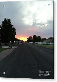 Acrylic Print featuring the photograph  Journey Into The Sunset by Carla Carson