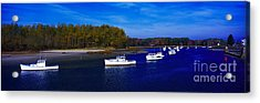Acrylic Print featuring the photograph  Kennnepunkport Harbor  Maine  by Tom Jelen
