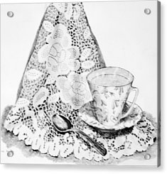 Lace With Cup Acrylic Print