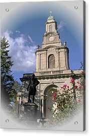 Lafayette College Easton - Roses For The Marquis Acrylic Print by Jacqueline M Lewis
