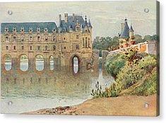 Le Chateau De Chenonceaux         Date Acrylic Print