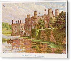 Leeds Castle, Kent         Date 1907 Acrylic Print by Mary Evans Picture Library