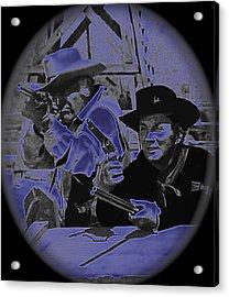 Leif Erickson And Cameron Mitchell  The High Chaparral Old Tucson Arizona 1969 Acrylic Print