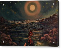 Acrylic Print featuring the painting  Life  Is  But  A  Dream by Beth Arroyo