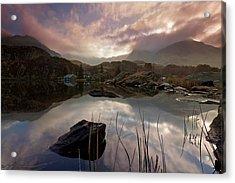 Llyn Ogwen Sunset Acrylic Print