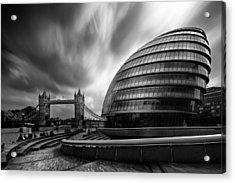 London City Hall And Tower Bridge.  Acrylic Print by Ian Hufton