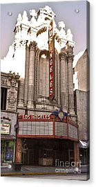 Los Angeles Theater Acrylic Print by Gregory Dyer