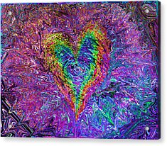 Love From The Ripple Of Thought  V 5  Acrylic Print