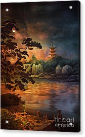 Magic Of Japanese Gardens. Acrylic Print