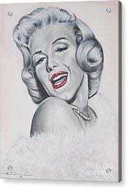 Marilyn Monroe Acrylic Print by Eric Dee
