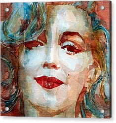 Marilyn   Acrylic Print by Paul Lovering