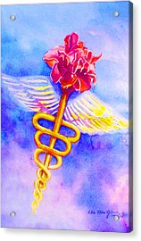 Medical Angel  Acrylic Print by Estela Robles