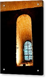 Acrylic Print featuring the photograph  Meditation - Deep Window Mont St Michel by Jacqueline M Lewis