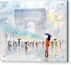 Memory Of Paris France Acrylic Print