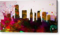 Miami City Skyline Acrylic Print