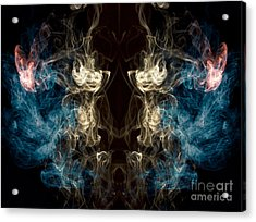 Minotaur Smoke Abstract Acrylic Print by Edward Fielding