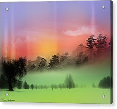 Mist Coloring Day Acrylic Print by Mark Ashkenazi
