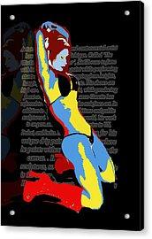 MJ Acrylic Print by Artist Singh