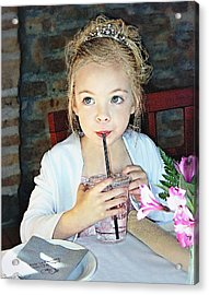 Mommy And Daddy's Little Princess Acrylic Print