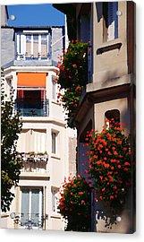 Montmartre Apartment Acrylic Print by Jacqueline M Lewis