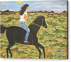 Morning Bareback Ride Acrylic Print