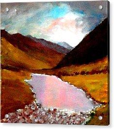 Mountain Landscape Acrylic Print by Mauro Beniamino Muggianu
