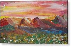 ptg.  Mountain Sundown Acrylic Print