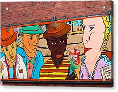 Mural Wall Art In Seattle Acrylic Print by Kym Backland