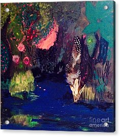 Acrylic Print featuring the painting  My Pond by Vanessa Palomino