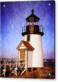 Nantucket Harbor Light House Acrylic Print by Heinz G Mielke