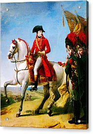 Napoleon After The Battle Of Marengo Acrylic Print by Celestial Images
