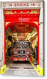 New York Fire Department Engine 14 Acrylic Print