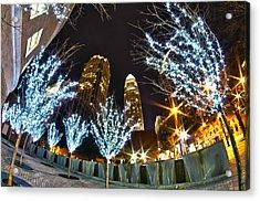 Nightlife Around Charlotte At Christmas Acrylic Print by Alex Grichenko