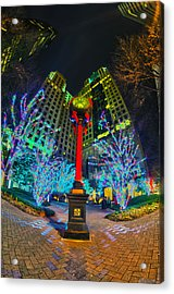 Nightlife Around Charlotte During Christmas Acrylic Print
