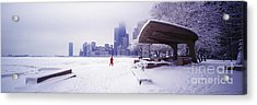 Acrylic Print featuring the photograph  North Ave Beach Chess Palv Chicago Lake Front  by Tom Jelen