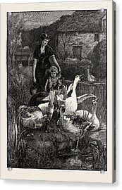 Obstructionists  From The Picture By Yeend King Acrylic Print by Litz Collection