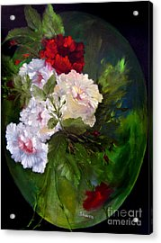 Of Rhapsodies And Roses Acrylic Print by Sharon Burger