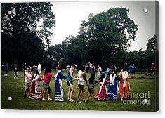 Oklahoma Choctaw Youth Dancing Acrylic Print by R McLellan