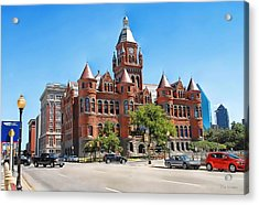 Acrylic Print featuring the photograph   Old Red Museum - Dallas  by Dyle   Warren