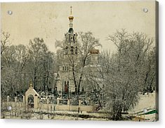 Old Russian Church Acrylic Print by Mikhail Pankov